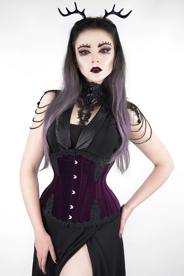 Gorset underbust Dark Grapes