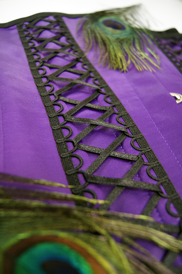 22803a6e5ad2f8 Gorset underbust Violet Butterfly :: PaperCatsCorsets.pl
